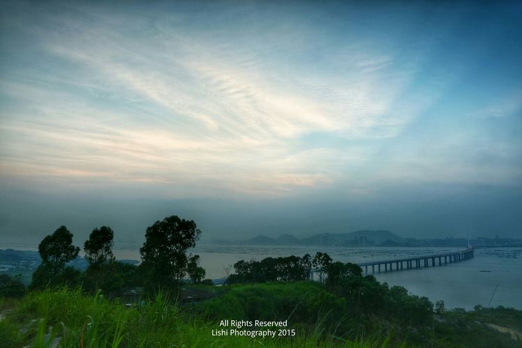SUNSET WITH BLUE SKY EyeEm Best Shots - Landscape Sunset Sea And Bridge Winds &clouds Sunsets Magic Moments Landscapelovers Pardise Sunset And Clouds  EyeEm Nature Lover Landscape_photography