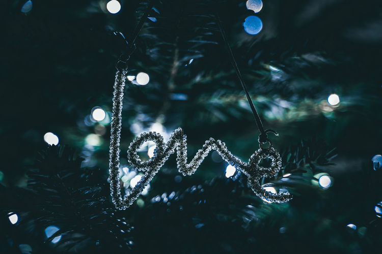 Love at christmas,  tree decoration and lights
