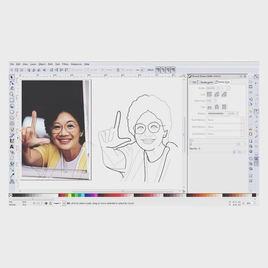 Still working on some digital sketching of Ms. Cory Aquino Overtime Work Digital Art Drawing