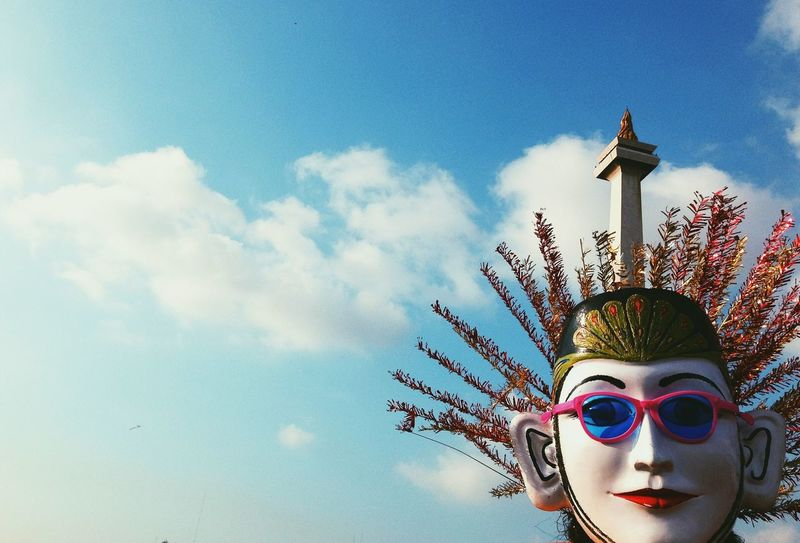 Ondel-ondel Betawi Traditional Culture Monas Sky Colorful Eyeglasses  Doll Taking Photos Traveling Travel Photography The Week Of Eyeem Showcase March Festival
