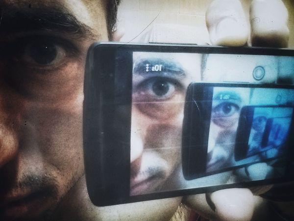 Myself Psicadelic Self Portrait Inside Mirror