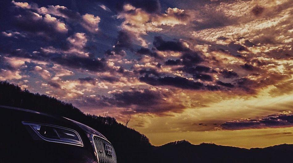 Car Carporn Audi Audilove Audi Q5 Quattro Sunset And Car Sunset_collection Sunsetporn Sunset Photography Car Photography Car In Nature