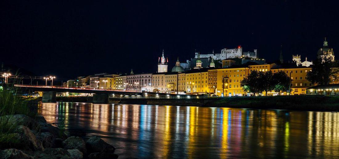 Salzburg ❤️🇦🇹 Illuminated Building Exterior