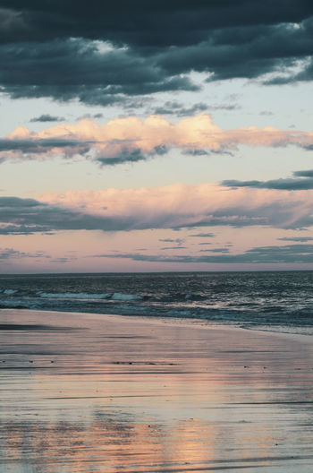 I could never tire of seeing sunsets in the sea Beach Beauty In Nature Cloud - Sky Horizon Horizon Over Water Idyllic Land Nature No People Orange Color Outdoors Scenics - Nature Sea Sky Sunset Tranquil Scene Tranquility Water