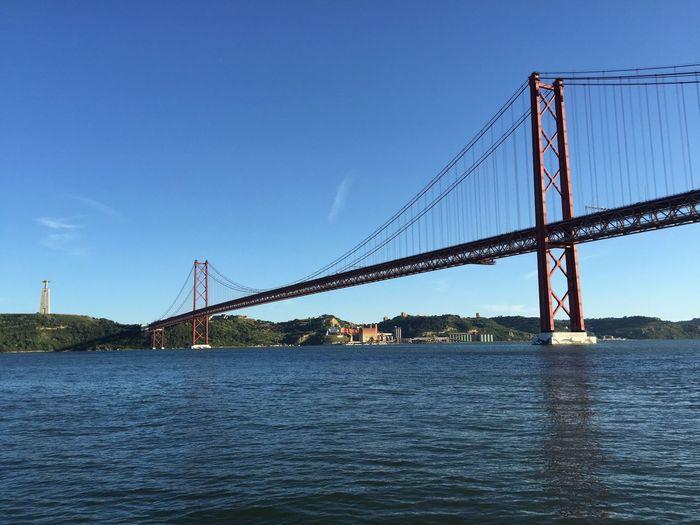 25 de Abril Bridge / Christ The King 25deabrilbridge Ponte 25 De Abril Cristo Rei (Portugal) ChristTheKing Tagus River Lisbon Portugal