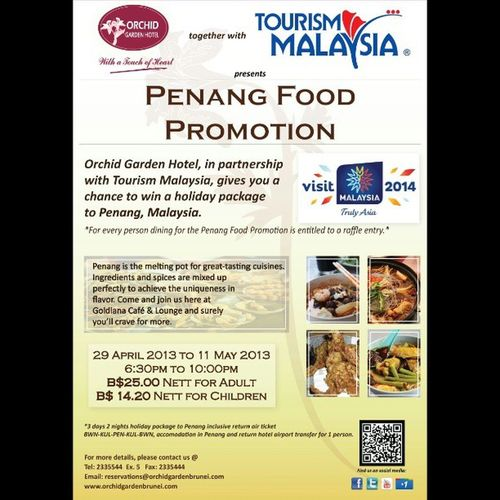Make sure you're hungry when you check out the Penang Food Festival at OGH! Lovefoodhatewaste Yummyinmytummy Brunei InstaBruDroid Andrography