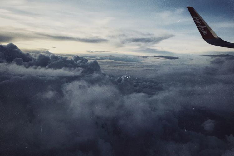 IPhone7Plus 男仔很忙 Sunset NOMO Cloud - Sky Sky Airplane Air Vehicle Mode Of Transportation Scenics - Nature Flying Beauty In Nature Transportation Cloudscape No People Aerial View Nature Travel Aircraft Wing Mid-air Tranquil Scene Outdoors Day Journey