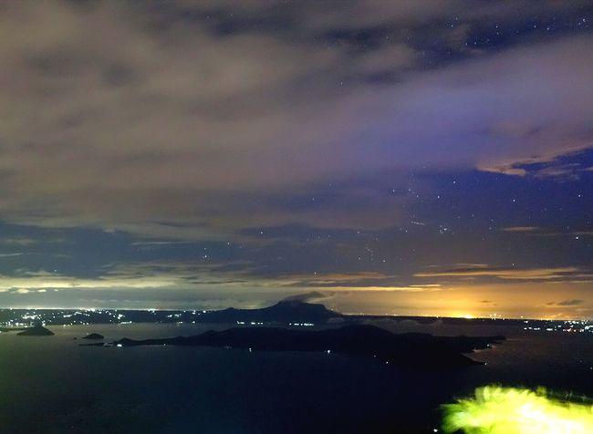 Sunrise Taal Volcano Stars In The Skies