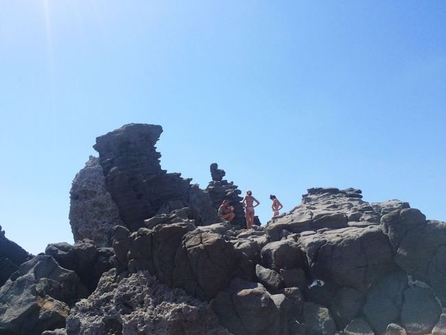 Summer Views Volcanic Rock Acitrezza  Sicilia Sicily