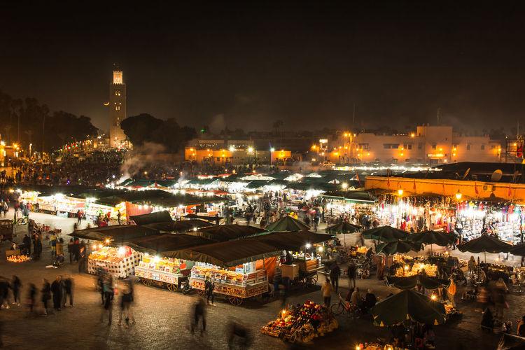 night market in
