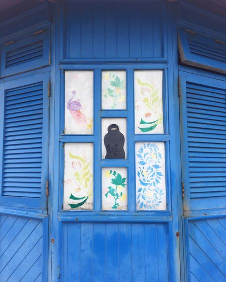 Traveling Travel Travel Destinations Sansibar Window Art Burka  Blue No People Architecture Window Built Structure Pattern Day Design Multi Colored Glass Full Frame Art And Craft Building