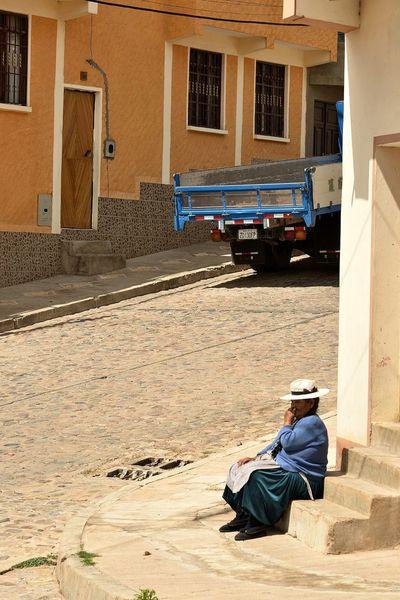 Bolivianos Cultural Heritage Hat Latin America Lifestyles Siesta Sucre Tourism Women