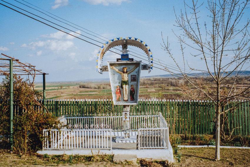 Worship cross in the Copanca village Visualanthropology Anthropology Moldova Worshipcross Cross Art Folkart Folks Jesus