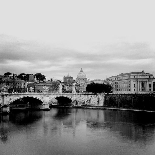 Rome River Bridge View