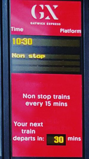 Text No People Communication Day Funny Ironic  Train Train Station Gatwick Express Gatwick Airport London City Life