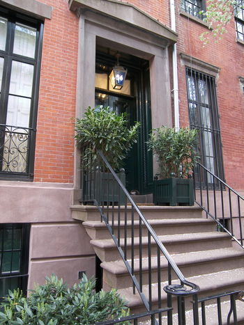 46 Grove Street Façade New York New York City Residential Building Stoop Townhouse