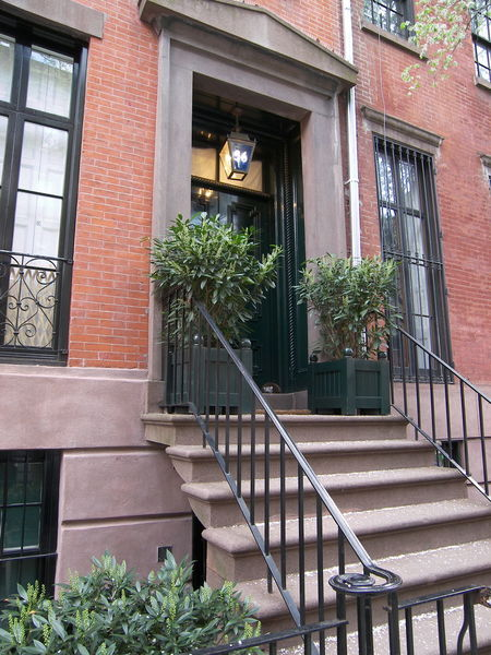 46 Grove Street Façade New York New York City Residential Building Stoop Townhouse