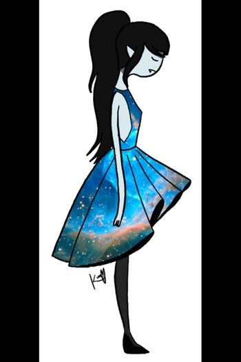 Marceline Adventure Time Dress Galaxy
