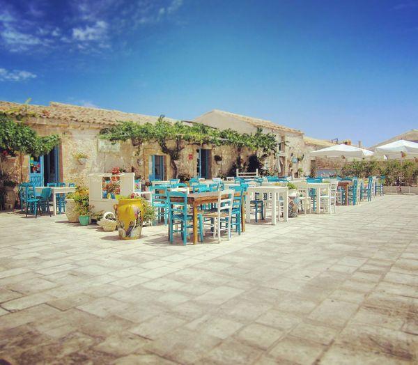 Marzamemi Chairs Square Sicily Sicilia