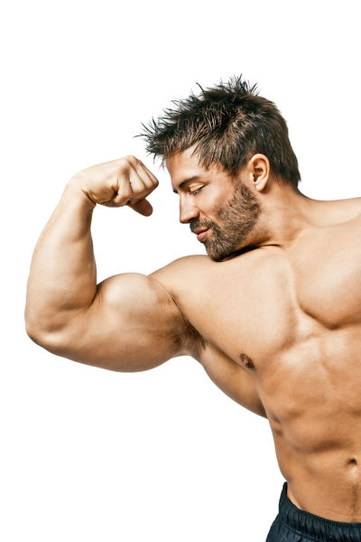 An image of a handsome young muscular sports man Beard Body & Fitness Bodybuilding Lifestyles Man Muscles Person Portrait Real People Strong Young Adult Young Men