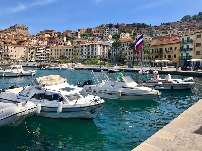 Porto Ercole Toscana Grosseto Italy Water Architecture Building Exterior Nautical Vessel Built Structure Transportation Mode Of Transportation No People Harbor