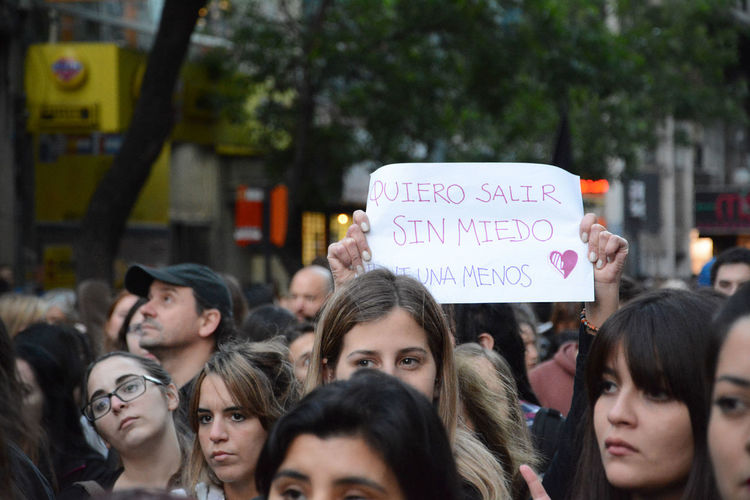 March against gender violence, were relaizaron in different cities of Argentina Close-up Communication Day Femicide Femicidio Gender Violence Horizontal Mar Marcha Ni Una Menos Niunamenos Outdoors People Photojournalism Real People Text Woman Women