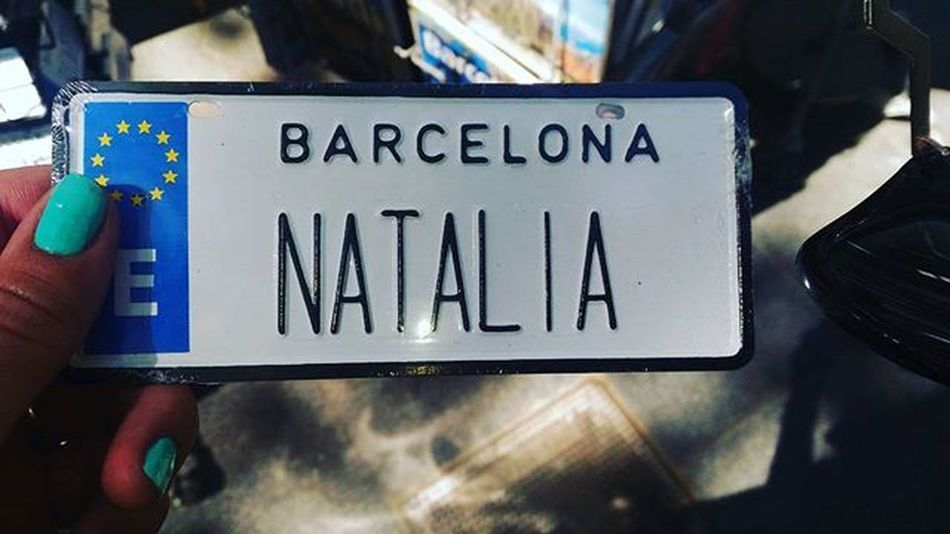 Gonna put it in my car,instead of the weird numbers! Passeigdegracia Barcelina Catalunya Gangsta