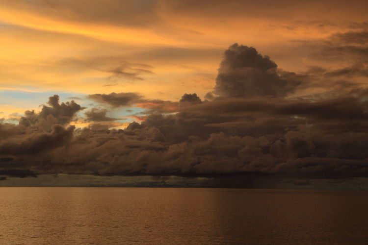 Africa Sunset Malawi Lake Clouds Cloud - Sky Orange Color Dramatic Sky Dark Radiation Nature Power In Nature A Storm Is Coming Brewing Water Horizon No People Horizon Over Water Sky