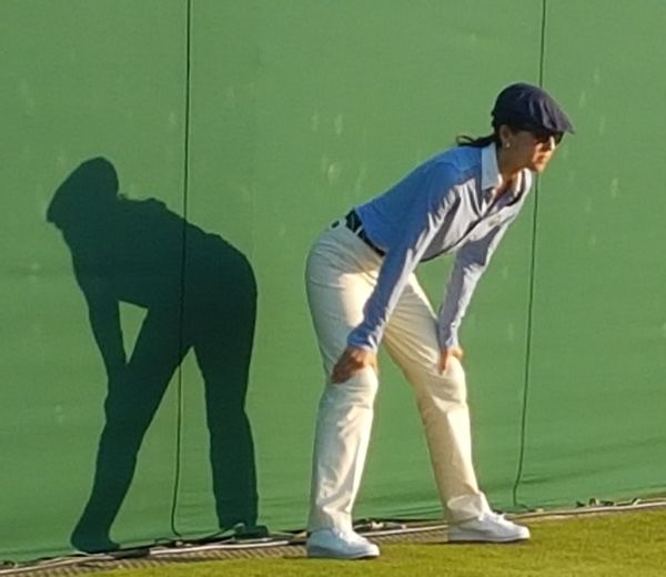 Standing People Full Length One Person Outdoors Wimbeldon Tennis Court Tennis Courts Tennis Game Tenniscourt Line Court Judge Shadows On The Wall Female Sunny Days Watching The Game Intense Look Tennis Club