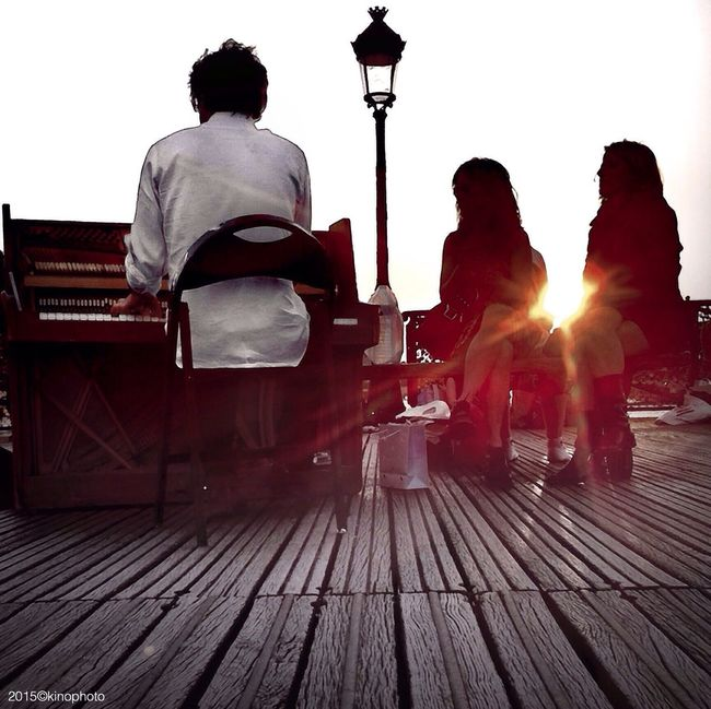 Love song... Paris Silhouette Sunset Streetphoto_color