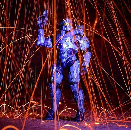 Flawless..Toyonlocation Toy_nerds Halo5 Halo Spartanfred Toyphotography Longexposure Steelwool Spinning Actionfigure Toycrewbuddies Capturedplastic Steelwoolphotography Toygroup_alliance Toystagram Toyart Toypictures Arizona Collectable Toyboners Toyjuice Phxtoys Phxtoypics Toptoyphotos Toyoutsiders toydiscovery nightphotography spinningsteelwool steelwoolspinning