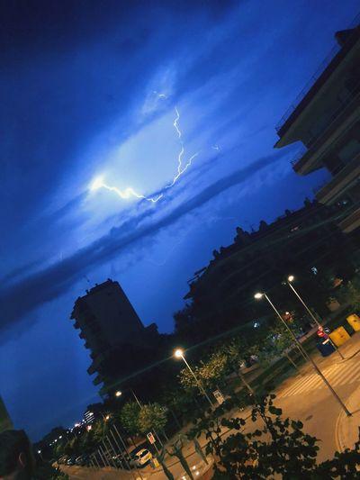 Lightning over Barcelona⚡️ Night Illuminated Cloud - Sky Thunderstorm First Eyeem Photo