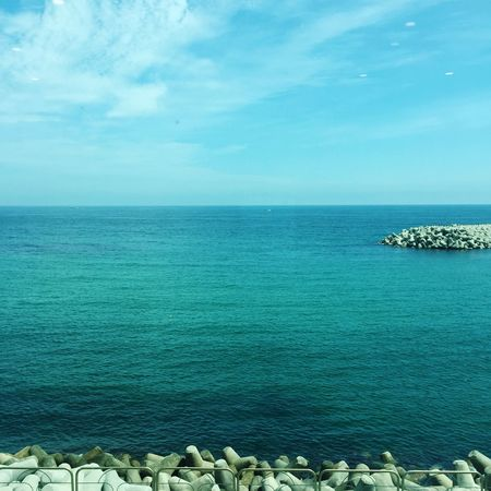 Sea Horizon Over Water Outdoors Water Beach Nature Tranquil Scene Sky Blue Day Beauty In Nature Travel Destinations No People Scenics