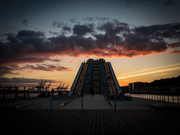 Dockland Harbour Dockland Hamburg Sunset Sky Cloud - Sky Architecture Built Structure Nature Water Sea Building Exterior No People Outdoors City