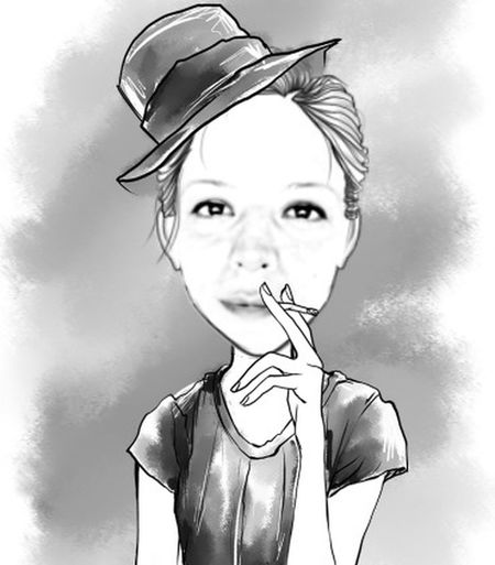 That's Me Comic Cartoon Caricature Hello World Hi! Enjoying Life Quality Time Have Fun Have A Nice Day♥