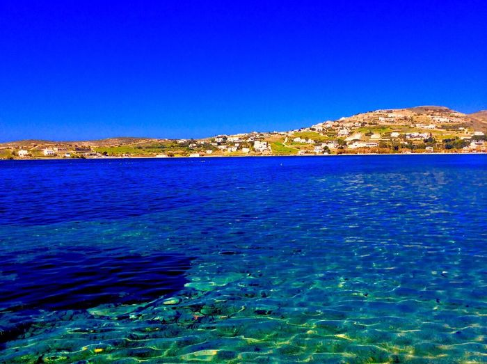 Paros Paros, Greece Clear Sky Nature No People Water Rippled Day Outdoors Sea View Into Land Sky Aegean Sea Island EyeEmNewHere The Week On EyeEm Been There. Lost In The Landscape Second Acts Perspectives On Nature 🇬🇷Greece An Eye For Travel