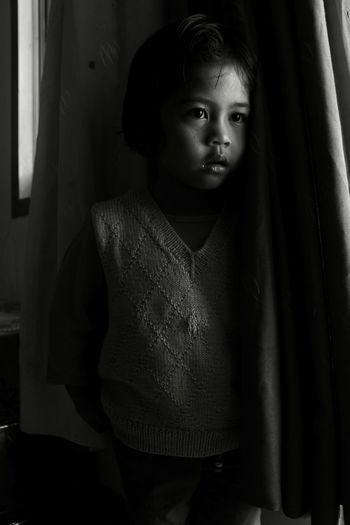 Indoors  One Person Window People Child Childhood Children Only Portrait Adult Day MonochromePhotography Monochrome _ Collection B&W Collection Black And White Collection  Wall Decoration EyeEmNewHere Building Exterior Arsitecture Indonesian Street (Mobile) Photographie Indonesian Shooter Headshot Close-up One Girl Only Indoors  Mirror Black And White Friday