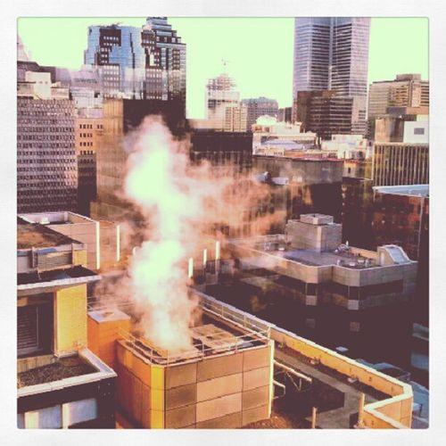 A view from the RitzCarlton Montréal Sunrise Cementbuildings Skyscrapers View