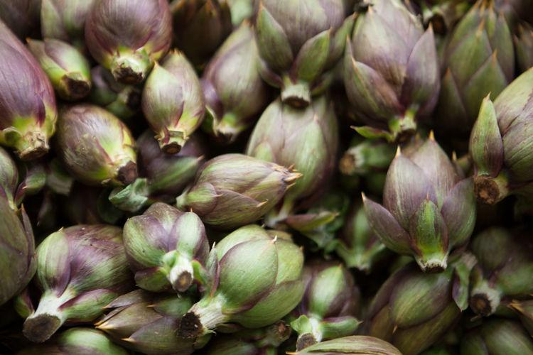 Full frame shot of artichoke for sale at market