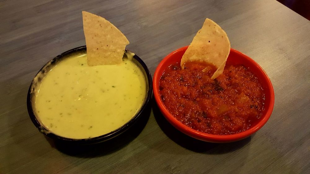 Texas Good Food Red Green Yum Texmex Conroe Texas United States Salsa Chips And Salsa Green Sauce Red Sauce Spicy Corn Chips