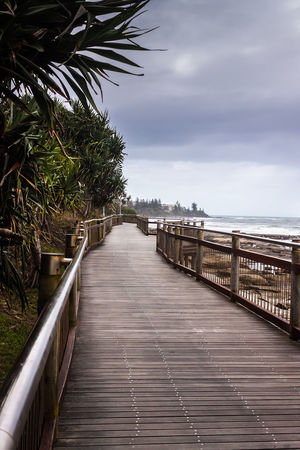 Path To The Beach Architecture Australia Bridge Built Structure Caloundra Composition Connection Footbridge Leading Long Narrow Perspective Pier Queensland Railing SUPPORT The Way Forward Travel Water