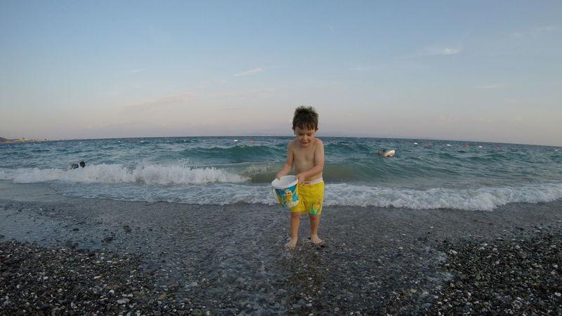 Altınoluk/Turkey Beach Child Childhood Children Only Day Gopro Happy Hero4 Horizon Over Water Joyful Joyful Moments Nature Outdoors People Playing Sand Sea Summer Vacations Water