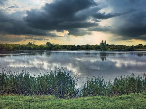 Hosehill lake, Theale, Reading, Berkshire, UK Atmosphere Clouds Lake Lakeshore Landscape R Reedbeds Relaxing Water