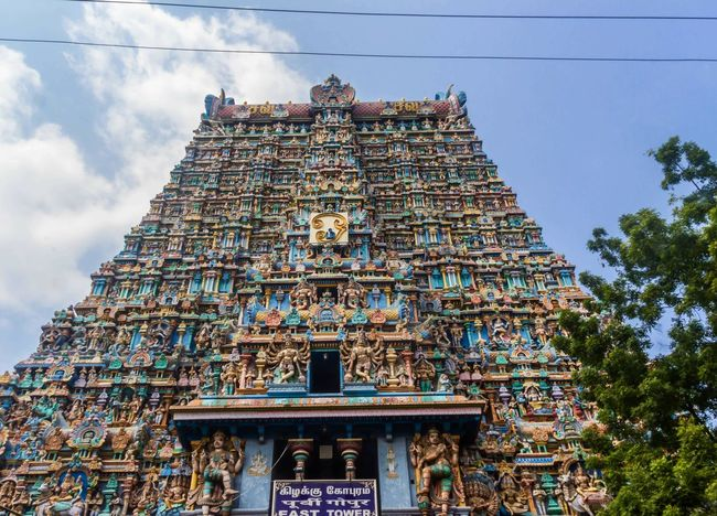 Temple Architecture Built Structure Gopuram Place Of Worship Culture And Tradition South Indian Temple Architecture Tourism Temples Of India Day Trip Outdoors Meenakshi Amman Temple Madurai The Architect - 2017 EyeEm Awards