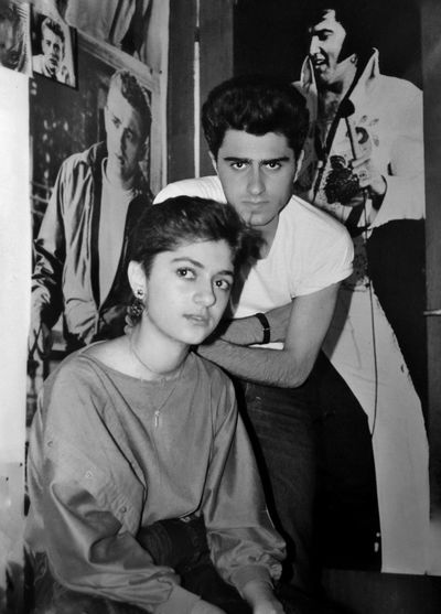 An old selfie with my kissing cousin in my room , 1985! Lifestyles Boys Portrait Indoors  Young Adult Day Adult People 1980s Teenspirit