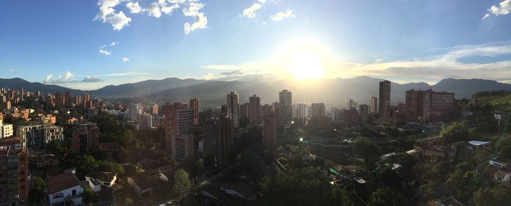 Architecture Building Exterior Built Structure City Cityscape Colombia Day Modern Mountain No People Outdoors Panorama Sky Skyscraper Sunlight Sunset Travel Travel Destinations View EyeEmNewHere Neighborhood Map