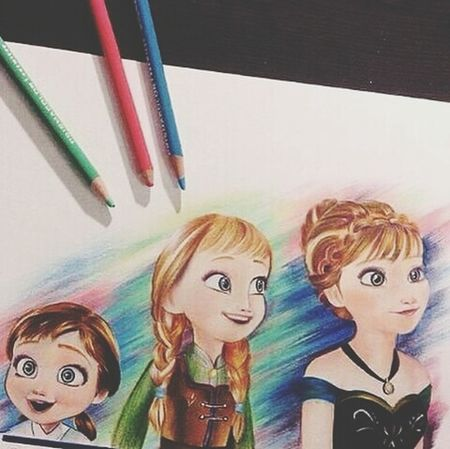 Drawing Of Elsa♡ and Anna I Do This
