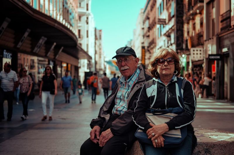 Madrid Old People Candid Streetphotography Street Photography Couple Men City Two People Adult Males  Architecture Street City Life Day People Lifestyles City Street Real People