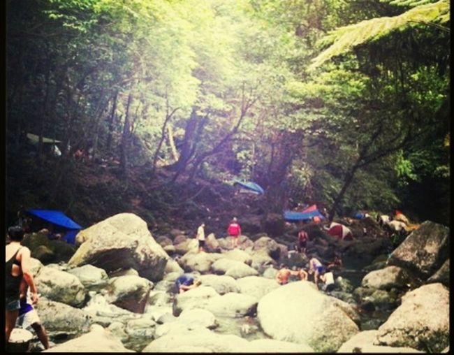 Enjoying The Sun in taytay falls