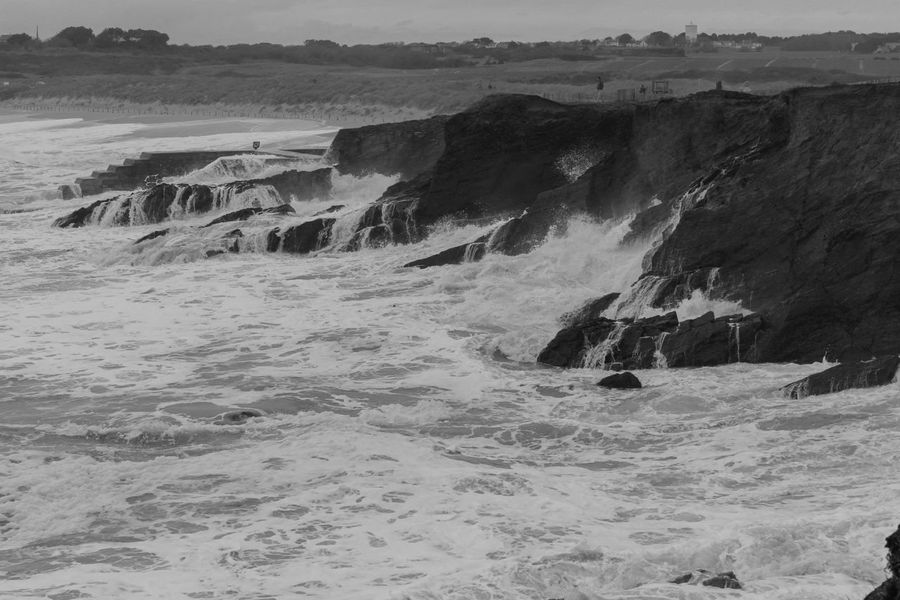 Wave Life Is A Beach Canon Landscape_Collection Water Blackandwhite Black And White Bretagne Landscape Nofilter